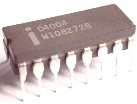 Резултат с изображение за микропроцесор, Intel 4004